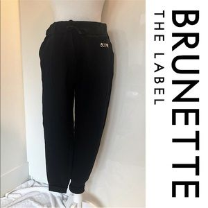 NWT Brunette The Label Black Jogger Pant.
